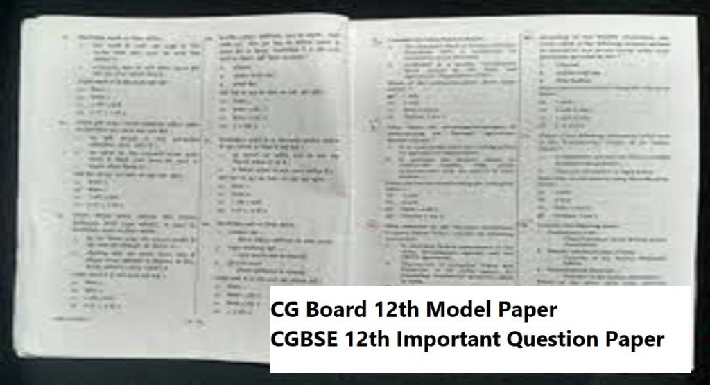CG 10th Model Paper 2021 Blueprint