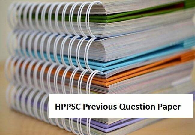 HPPSC Previous Question Paper 2020