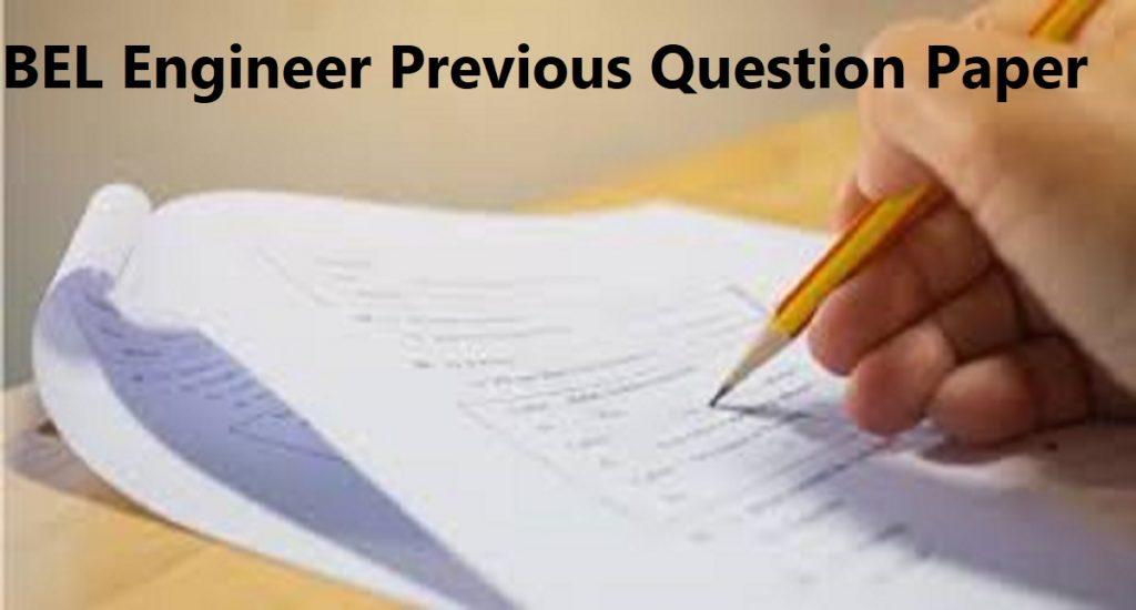 Bharat Electronics Engineer Model Paper 2020