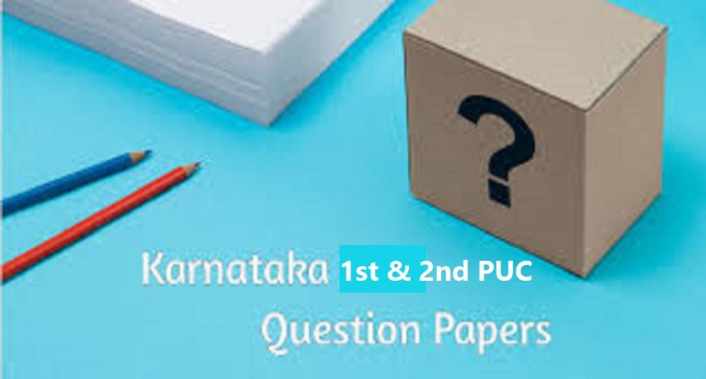 Kar 1st-2nd PUC Model Question Paper 2021 Kar Board Sample Question Pattern